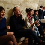 Equipe Expoésie 1, soirée Bouche à Oreille, château de Neuvic - Ph. K. Bénard