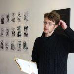 Fabrice Caravaca, lecture à la librairie Marbot - Ph. K. Bénard