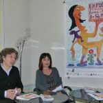 Hervé Brunaux et Elisabeth Dartencet (adjointe à la Culture), conférence de presse à l'EvénémenCiel