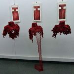 Marjory Salles - expo à L'app'Art 3 - Ph. H. Brunaux