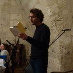 Rémy Checchetto, lecture soirée Bouche à Oreille, château de Neuvic - Ph. K. Bénard